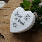 Geschenk aus Liebe - Herz aus weißem Marmor