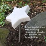 Marmor Stern mit Spieß im Boden